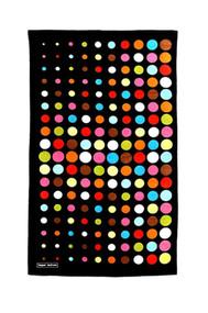 Beach Towel in Aero Dot Black design