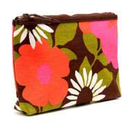 Travel & Cosmetic Purse in Bloom Orange