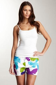 Women's Cotton Sateen Boxer in Mariposa design