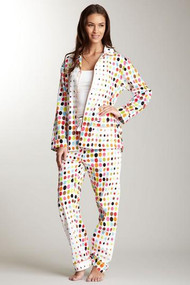 Unisex Cotton Sateen Pajama in Aerodot design