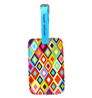 Luggage Tag in Mosaic design by Tepper Jackson