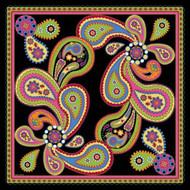 Silk Twill Scarf in Kashmir Black