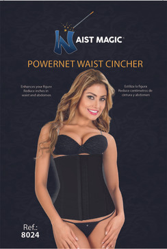 8024 WAIST MAGIC POWERNET CINCHER BLACK