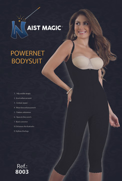 8003 Waist Magic Powernet Bodysuit Long Capri