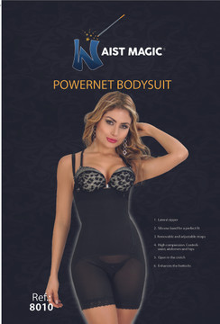 8010 Waist Magic Powernet Bodysuit Strapless Short