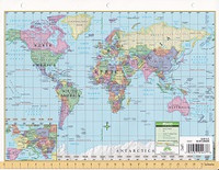 Visual Voyage Notebook Map of United States & World