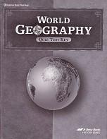World Geography 9, Quiz-Test Key