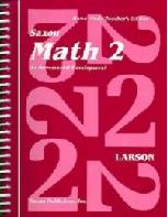 Saxon Math 2, Home Study Teacher Edition