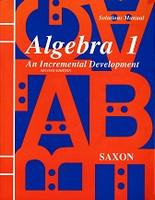 Saxon Algebra 1, 2d ed., Solutions Manual