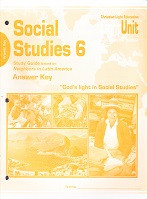 Social Studies 6, 606-610 Answer Key, Sunrise Edition