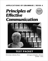 Grammar 10: Principles of Effective Communication, Tests
