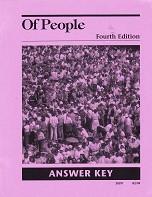 Of People Literature 7, 4th ed., Teacher Manual