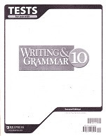 Writing & Grammar 10, 2d ed., Tests & Test Key Set