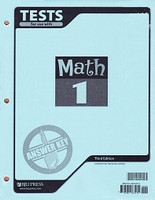 Math 1, 3d ed., Test Key