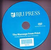 Bob Jones' Reading 4-6 Message from Print CD