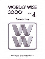 Wordly Wise 3000, Book 4, 2d ed., Answer Key