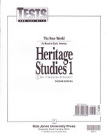 Heritage Studies 1, 2d ed., Tests & Test Key Set