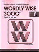Test Booklet for Wordly Wise 3000, Book 8