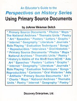 Using Primary Source Documents, an Educator's Guide