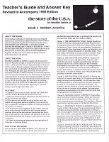 Story of the U.S.A.: Modern America, Book 4, Key