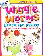Wiggle Worms Learn the Psalms, 12 Lessons for Preschoolers
