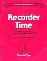 Recorder Time, beginning method; soprano, Book One