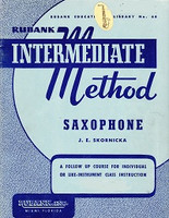 Rubank Intermediate Method, Saxophone