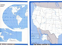 World Around Us: Political World & United States blank maps