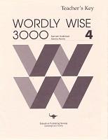 Wordly Wise 3000, Book 4, Teacher Key (SLL07631)
