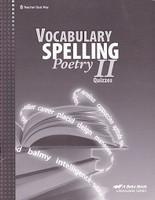 Vocabulary Spelling Poetry II (8), 5th ed., Quiz Key (SOL00439)