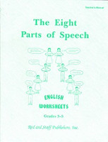 English 3-5: Eight Parts of Speech, Worksheet Teacher Manual (SOL02616)