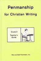 Penmanship 3 for Christian Writing, Teacher Manual