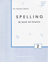 Spelling by Sound and Structure 2, Teacher Manual