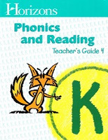Horizons Phonics and Reading K, Teacher Guide 4