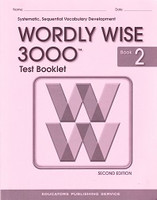 Test Booklet for Wordly Wise 3000, Book 2