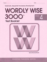 Test Booklet for Wordly Wise 3000, Book 4