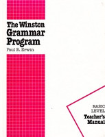 Winston Grammar Program, Basic Level, Teacher Manual
