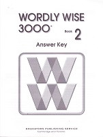 Wordly Wise 3000, Book 2, 2d ed., Answer Key
