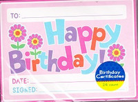 Happy Birthday Certificates Set of 24