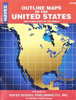 Outline Maps of the United States and Other World Areas