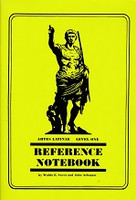 Artes Latinae Latin Self-Teaching, Level One Reference Ntbk