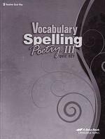 Vocabulary Spelling Poetry III (9), Quiz Key