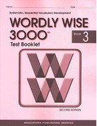 Test Booklet for Wordly Wise 3000, Book 3; 2d ed.