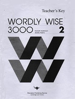 Wordly Wise 3000, Book 2, Teacher Key