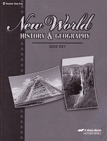New World History & Geography 6, Quiz Key