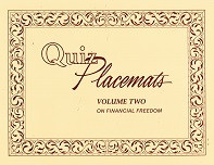 Quiz Placemats, Volume Two on Financial Freedom
