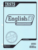 English 4 Writing and Grammar, 2d ed., Test Key