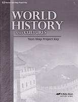 World History and Cultures 10, 3d ed., Test-Map Project Key