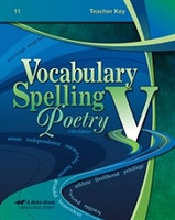 Vocabulary Spelling Poetry V (11), 5th ed., Key