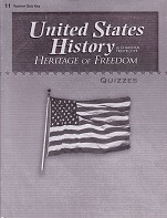 United States History 11: Heritage of Freedom, Quiz Key